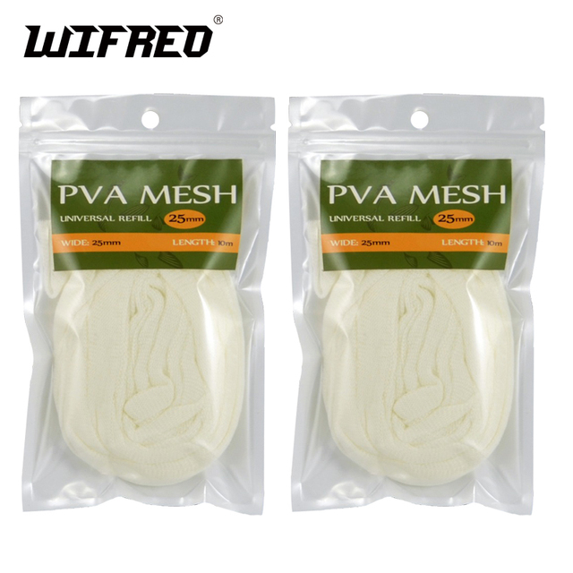Wifreo 2 X 25MM X 10M Premium Universal PVA Mesh Refill Economy Bulk Package for Carp Fishing System Retail & Wholesale