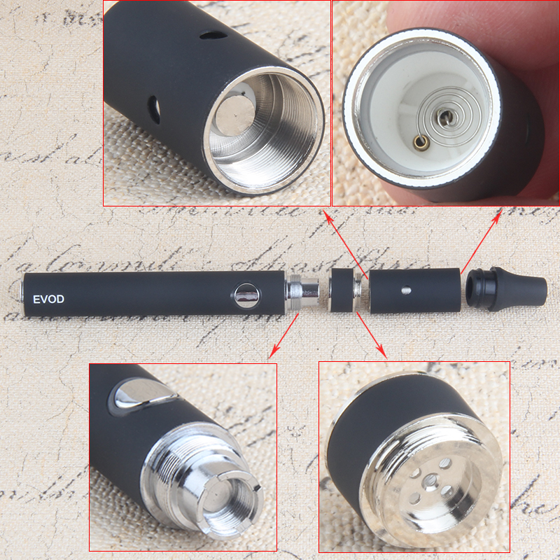 100pcs Dry Herb Vaporizer e cig vape kits evod/Miniago kit 3.7V E Cigs herbal vape Mini blister pack colorful kit electronic cig