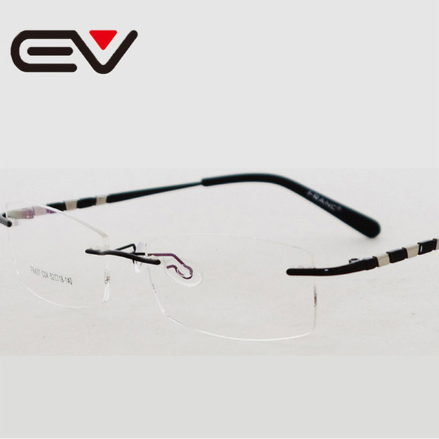 Fashionable Men Rimless Glasses Frame Women Metal Frame Optical Myoia  Eyeglasses Armacao de Oculos de Grau 8229afdbac