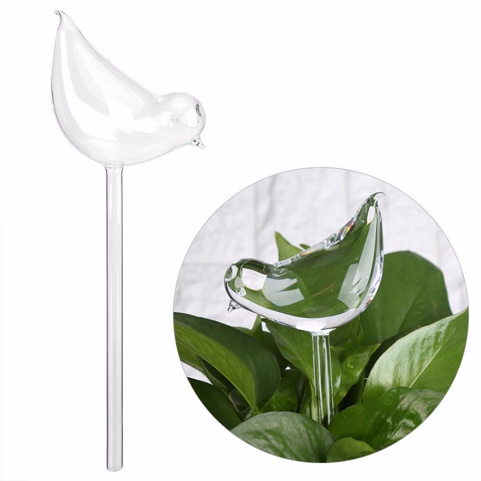 House/Garden Houseplant Automatic Self Watering Glass Feeder Bird Shape Watering Cans Plant  Flowers Clear Glass Garden Tool