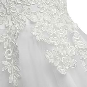 Image 4 - Biały/kość słoniowa bez rękawów długość herbaty pierwsza komunia kwiatowe sukienki dla dziewczynek dla dzieci kwiecista koronka korowód przyjęcie weselne suknia wieczorowa