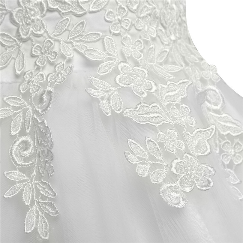 Image 4 - White/Ivory First Communion Dresses Girls Water soluble Lace Infant Toddler Pageant Flower Girl Dresses for Weddings and Party-in Flower Girl Dresses from Weddings & Events