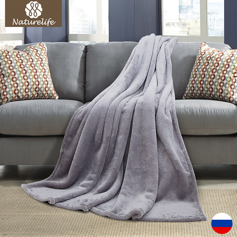 New warm blanket Shu velveteen Flannel White color warm winter blanket on the bed sofa plane
