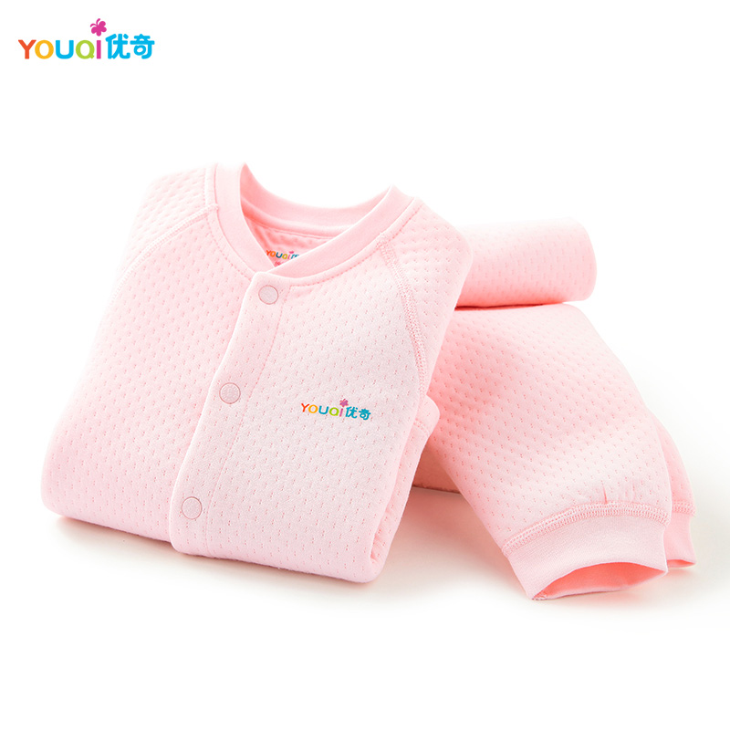 YOUQI Winter Baby Clothing Set Warm Baby Boy Clothes Brand Cotton 3 24 Months Girl T-shirt Pants Suit Autumn Outwear Clothing