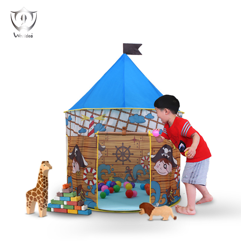 Foldable Play House Tent Blue Portable Outdoor Indoor Toy House Children Tent Pirate Gam ...