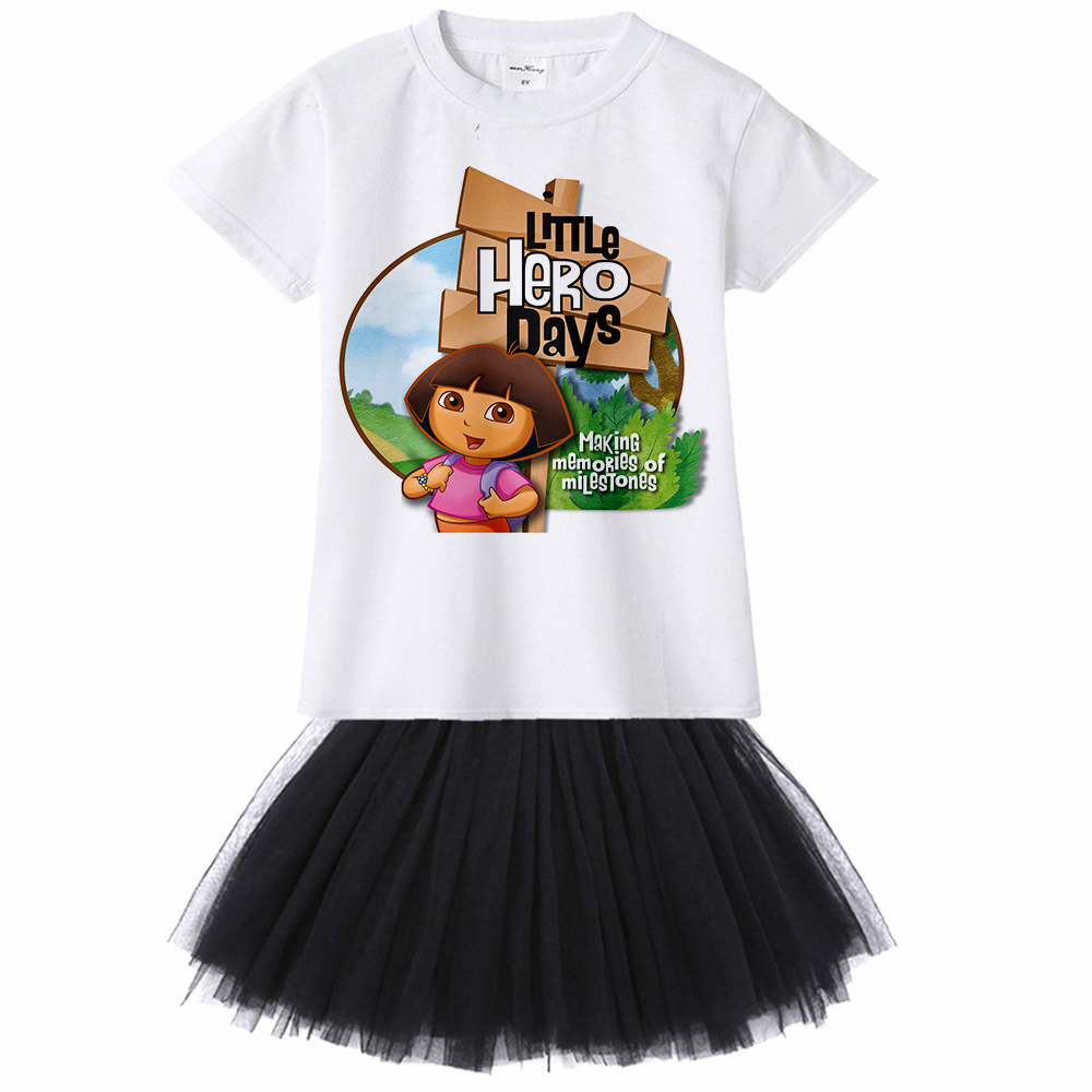 Detail Feedback Questions About Cartoon Dora Girls Dresses 2018 New Princess Girl Clothes Birthday Party Dress Casual For 1 2 3 4 5 6 8 10 12