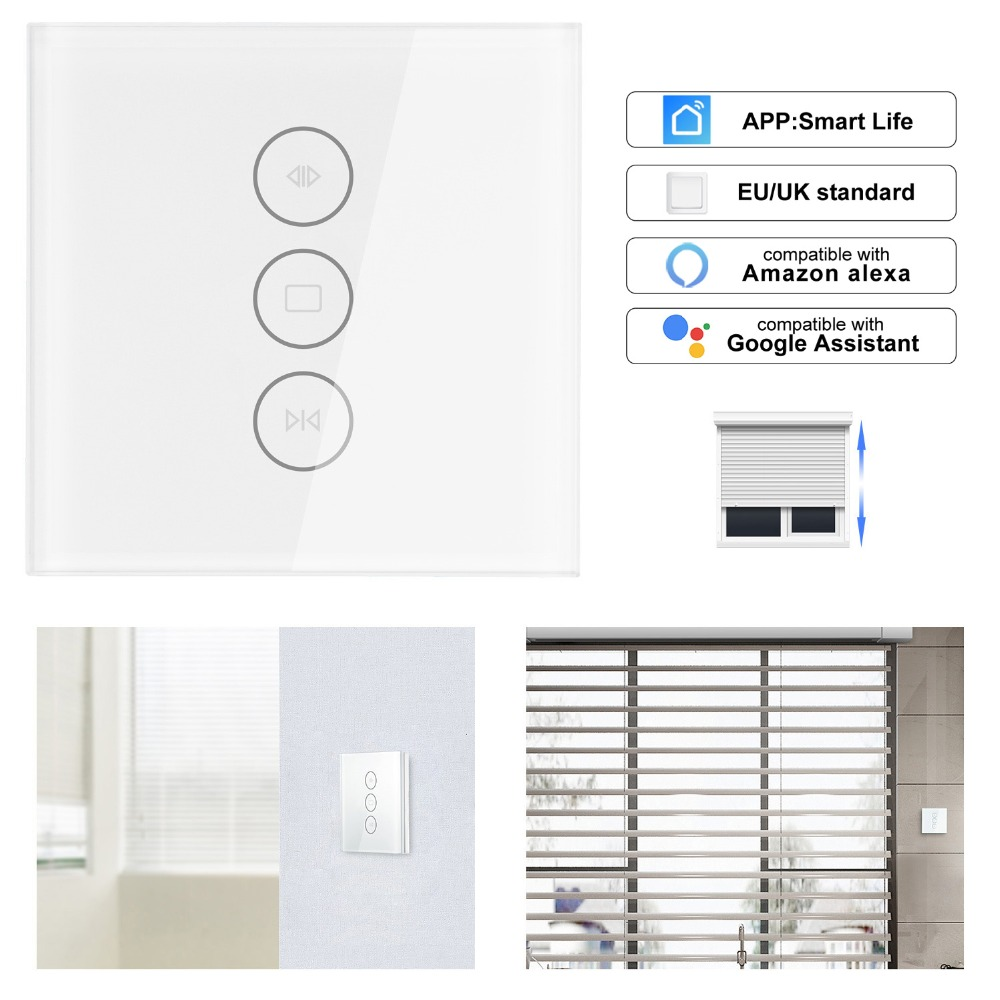 EU/UK 110-250V WiFi Electric Curtain Switch Touch APP Samrt Life  Voice Control By Alexa Echo For Mechanical Limit Curtain MotorEU/UK 110-250V WiFi Electric Curtain Switch Touch APP Samrt Life  Voice Control By Alexa Echo For Mechanical Limit Curtain Motor