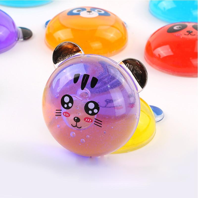 6PCS Novelty Panda Fluffy Floam Slime DIY Diamond Glint Rubber Mud Slime Putty Scented Tub Stress Relief Kids Sludge Toy Fun