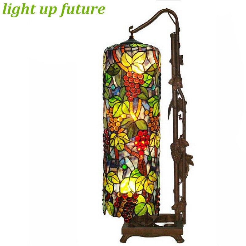 creativr vintage handmade tiffany glass floor lamp for living room bar restaurant h 83cm led e27