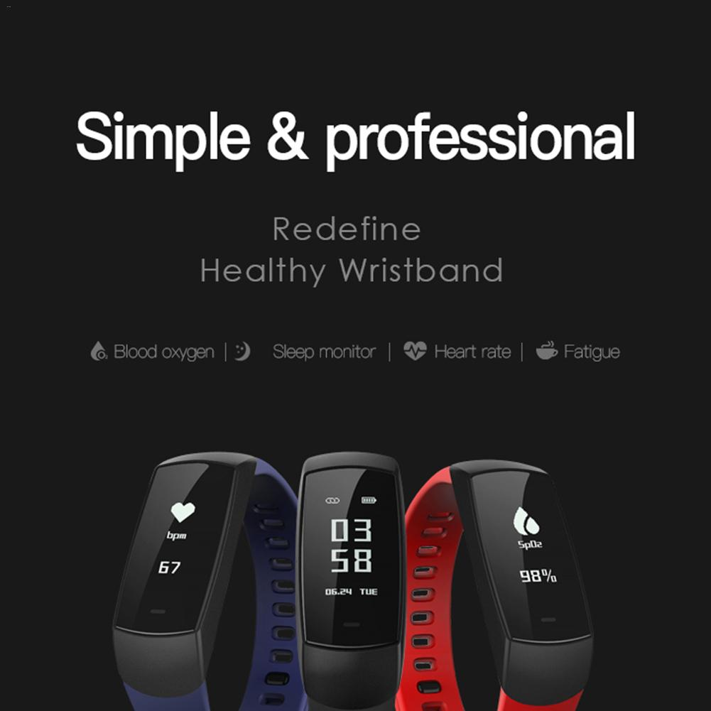 Rondaful V09 Smart Bracelet Multi-function Monitoring Heart Rate Tracker Blood Pressure Alarm Sleep Monitoring Smart Wristband