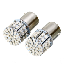 2x Yellow 1156 Tail Light BAU15S PY21W 360 Degrees 50 SMD LED Turn Signal Backup  Lighting Bulb Car Accessories