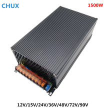 Regulated 1500W Switching Power Supply 12V 15V 24V 36V 48V 72V 90V Driver Transformer 110V 220V AC DC SMPS CNC CCTV 3D Printer 1200w 12v 72v 90v 110v adjustable switching power supply for led strip light ac to dc suply s 1200 dianqi 13 5v 15v 24v