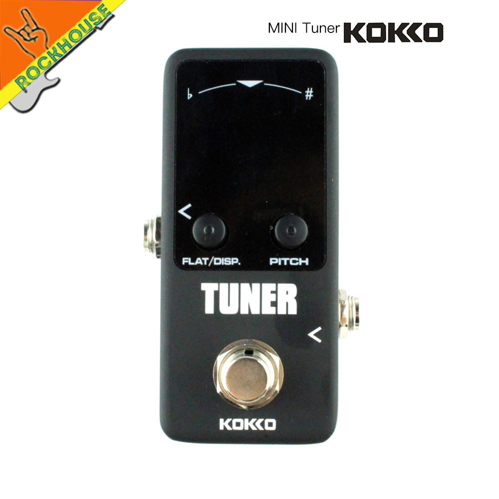 KOKKO Tuner Guitar Pedal Bass Guitar Tuner Effects Pedal with Pitch Calibration and Flat Tuning Dual Display models True Bypass