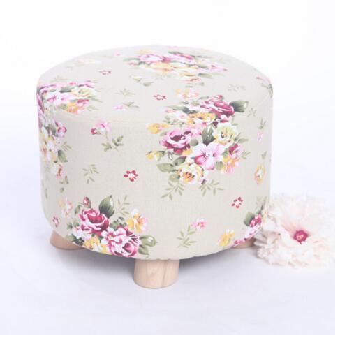 Hot selling fine workmanship high quality fashion modern shoes stool fabric creative footstool living room sofa stool ottoman