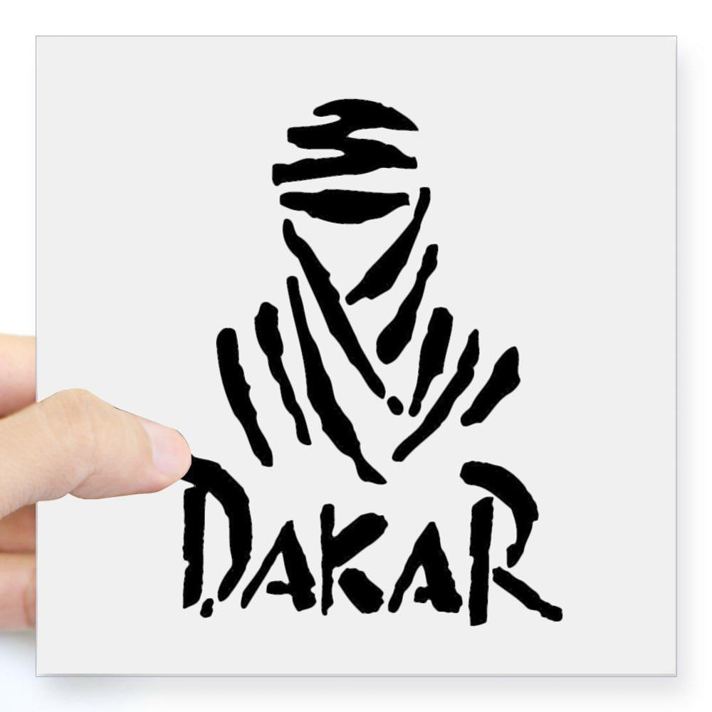 2 Pcs Universal Creative White DAKAR Off-road Reflective & Waterproof Car Sticker