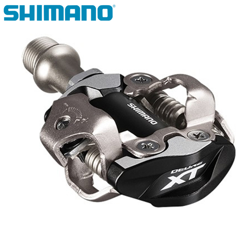 SHIMANO <font><b>XT</b></font> PD M8000 <font><b>M8020</b></font> Self-Locking SPD Pedals for MTB Bike Parts Bicycle Racing Professional Mountain Bike Pedals image
