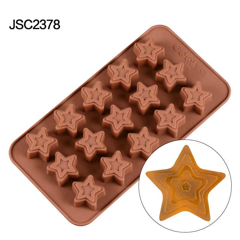 SILIKOLOVE Ferramentas 3D Gummy Doces Molde de Silicone Moldes de Decoração Do Bolo de Chocolate de Sobremesa Bandeja de Biscoitos DIY Molde de Cozimento Para O Bolo de Artesanato
