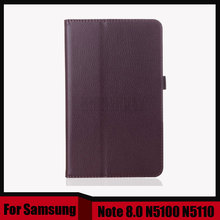3 in 1 PU Leather Case Skin Cover Stand Folio case For Samsung Galaxy Note 8.0 N5100 N5110 + Screen Film + Stylus