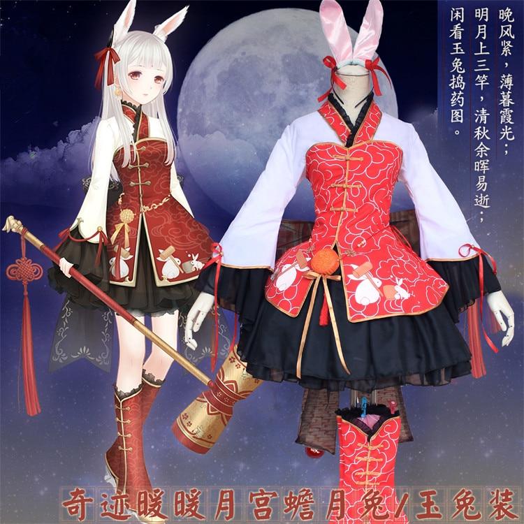 Cartoon Miracle Nikki Anime Cosplay Halloween Nikki Cos Female cartoon Rabbit set Cosplay Costume