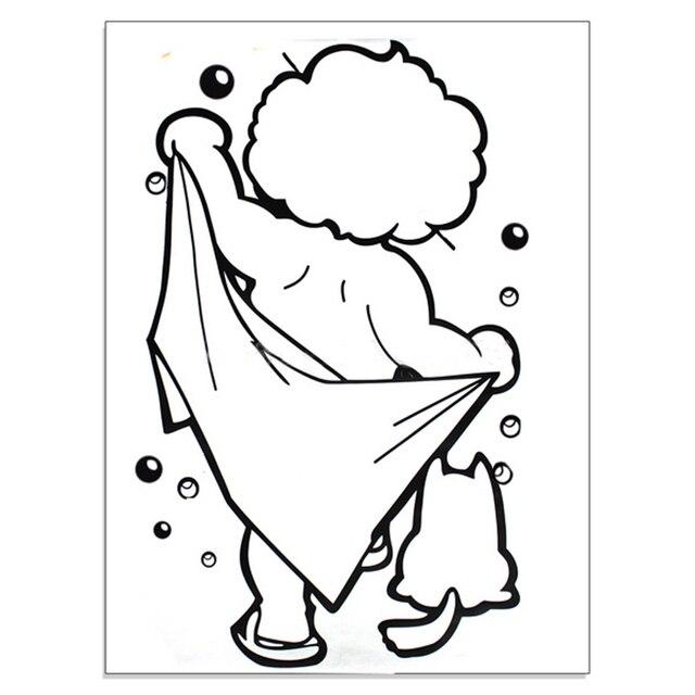 aliexpress acheter 1 pcs pvc removeble noir enfant douche mur