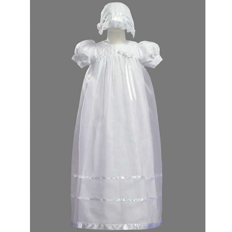2017 Newborn Baby Christening Gown Infant Girl's Long Bow Ivory Princess Lace Baptism Dress Toddler Baby Girl Dress