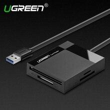 Ugreen tudo em 1 usb 3.0 multi memória flash leitor de cartão inteligente Leitor de cartão USB para TF para Cartão SD para CF para MS adaptador(China (Mainland))