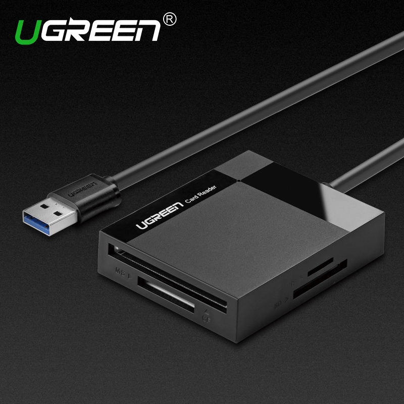 Ugreen All in 1 USB 3.0 Smart Card Reader Flash Multi Memory Card Reader USB for TF for SD for CF for MS Card Adapter