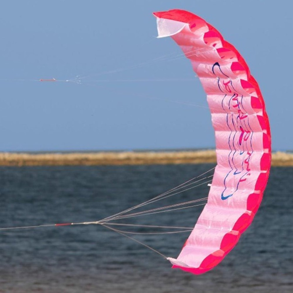 HTB1XYnkKbSYBuNjSspiq6xNzpXau - ร่มพาราไกลดิ้ง ขนาด 1.4 เมตร แบบคู่ ร่มไนลอน กีฬาทางน้ำ กีฬาชายหาด เล่นกลางแจ้ง Parachute Surfing Kite Paragliding -