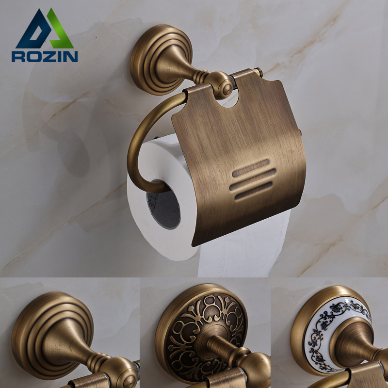 Free Shipping Bathroom Organizer Storage Holder Wall Mounted Toilet Roll Paper Holder Antique Brass Finished bathroom accessory antique brass wall mounted copper toilet paper roll holder free shipping aba037