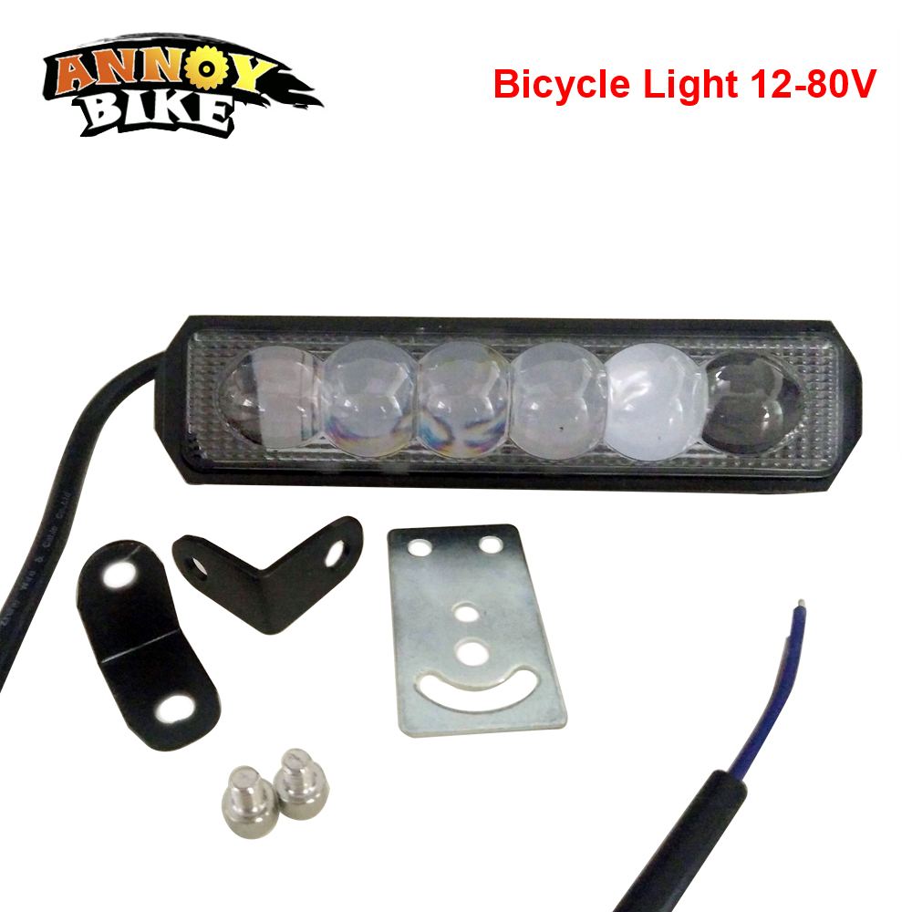 Bicycle Lights Ebike LED Front Bike Light Headlight Bicicle 12V 80V CCC Waterproof Cycling Riding Sport Electric Bike Accessorie|Bicycle Light| |  - title=