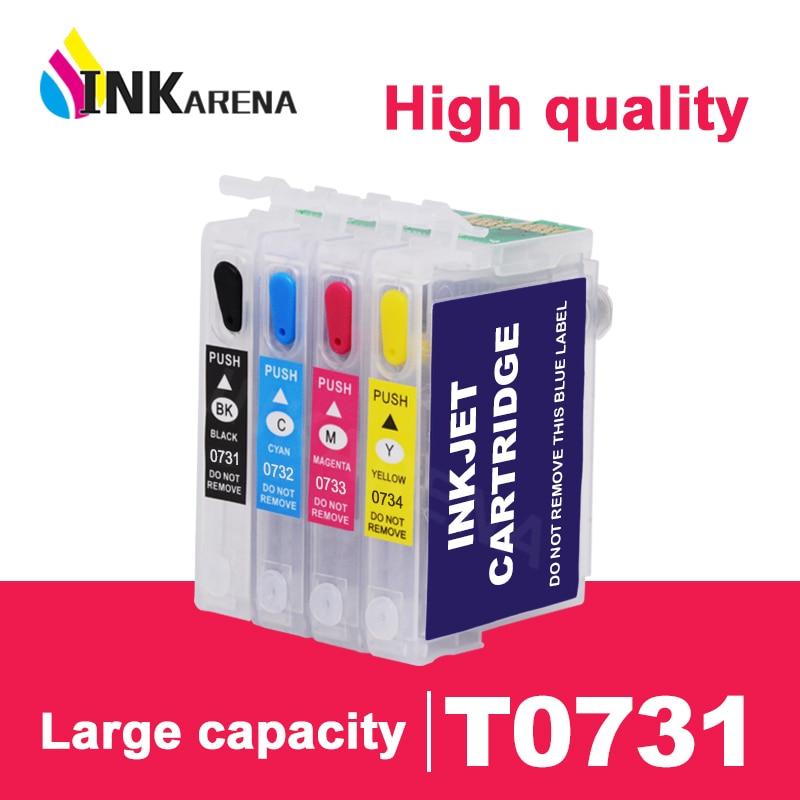 INKARENA T0731 Printer Ink Cartridge For Epson 73 T0731N 73N Cartridges T30 TX203 TX510F TX210 CX5900 T40W TX205 TX209 TX409 Kit