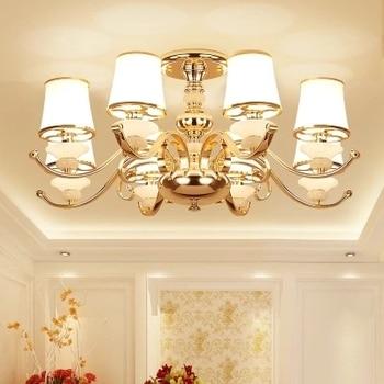 Modern Lustre Gold Metal Led Ceiling Chandeliers Lamp Marble Living Room Led Chandelier Lighting Dining Hanging Lights Fixtures