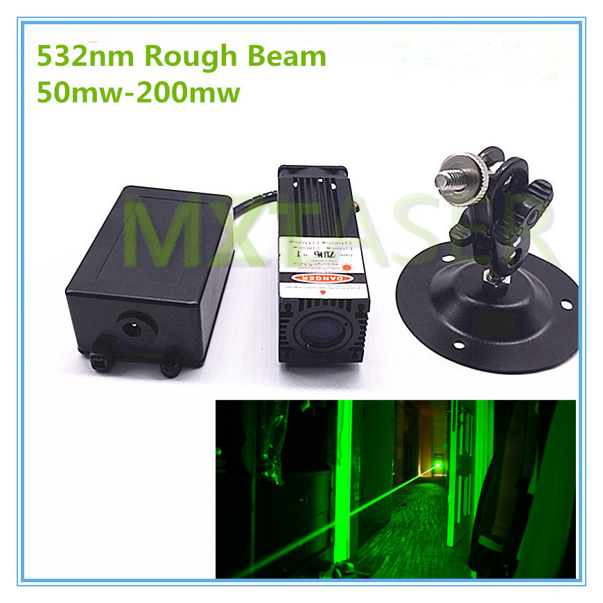 Rough Beam 60mw 100mw 150mw 200mw 532nm Green Laser Module Room Escape/ Maze props/ Bar dance Lamp стоимость