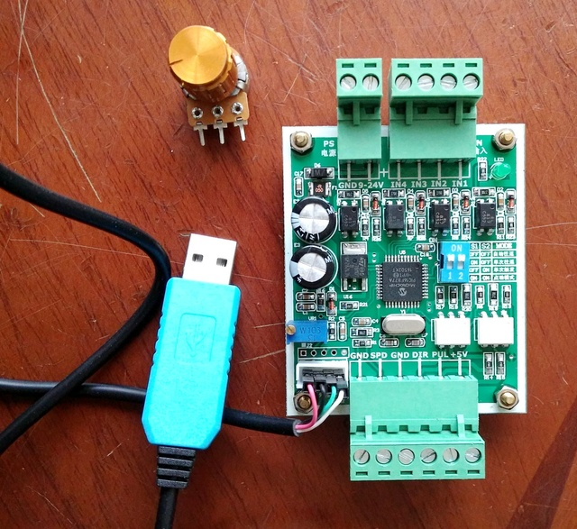 stepper motor controller single axis pulse generator driver Reciprocating motion fixed length speed control usb cable rs232 TTL