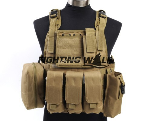 ФОТО 4 Colors Outdoor Airsoft Military Army Hunting Hard-wearing Nylon Molle Tactical MOLLE Assault  Durable Lightweight Vest
