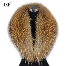 Новые зимние шарфы из натурального меха енота, теплый воротник из меха енота для женщин, высококачественные шали и шарфы
