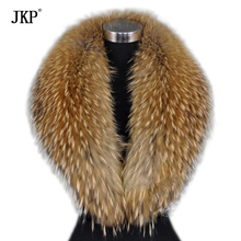 Winter New Natural Raccoon Fur Scarves Warm Raccoon Fur Collar For Women High Quality Shawls and Scarves