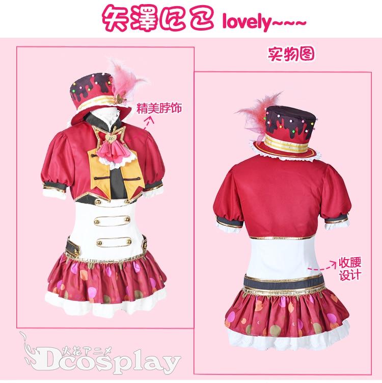 Aime Vivre! Tous les membres de la saint-valentin gâteau uniformes Costume Cosplay livraison gratuite + chapeau