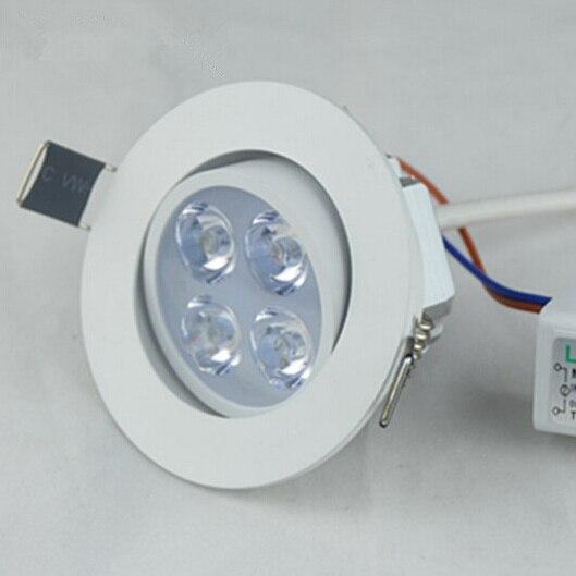 Затемнения 4x2 Вт downlight Epistar Спот потолочный светильник Встраиваемый свет 110 В 220 В для домашнего освещения оптовая продажа
