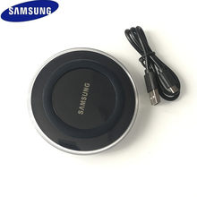 Samsung Qi Wireless Charger Pad dengan Micro USB CABLE untuk Galaxy S6 S7 Edge S8 S9 S10 Plus untuk iPhone 8 X XS Max XR 5 V/2A(China)
