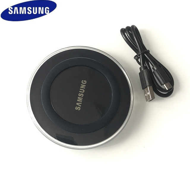 Оригинальный samsung QI адаптер для беспроводной зарядки 5 V/2A Зарядное устройство Pad для Galaxy S7 S6 край S8 S9 S10 Plus Note 4 5 для Iphone 8 XS XR