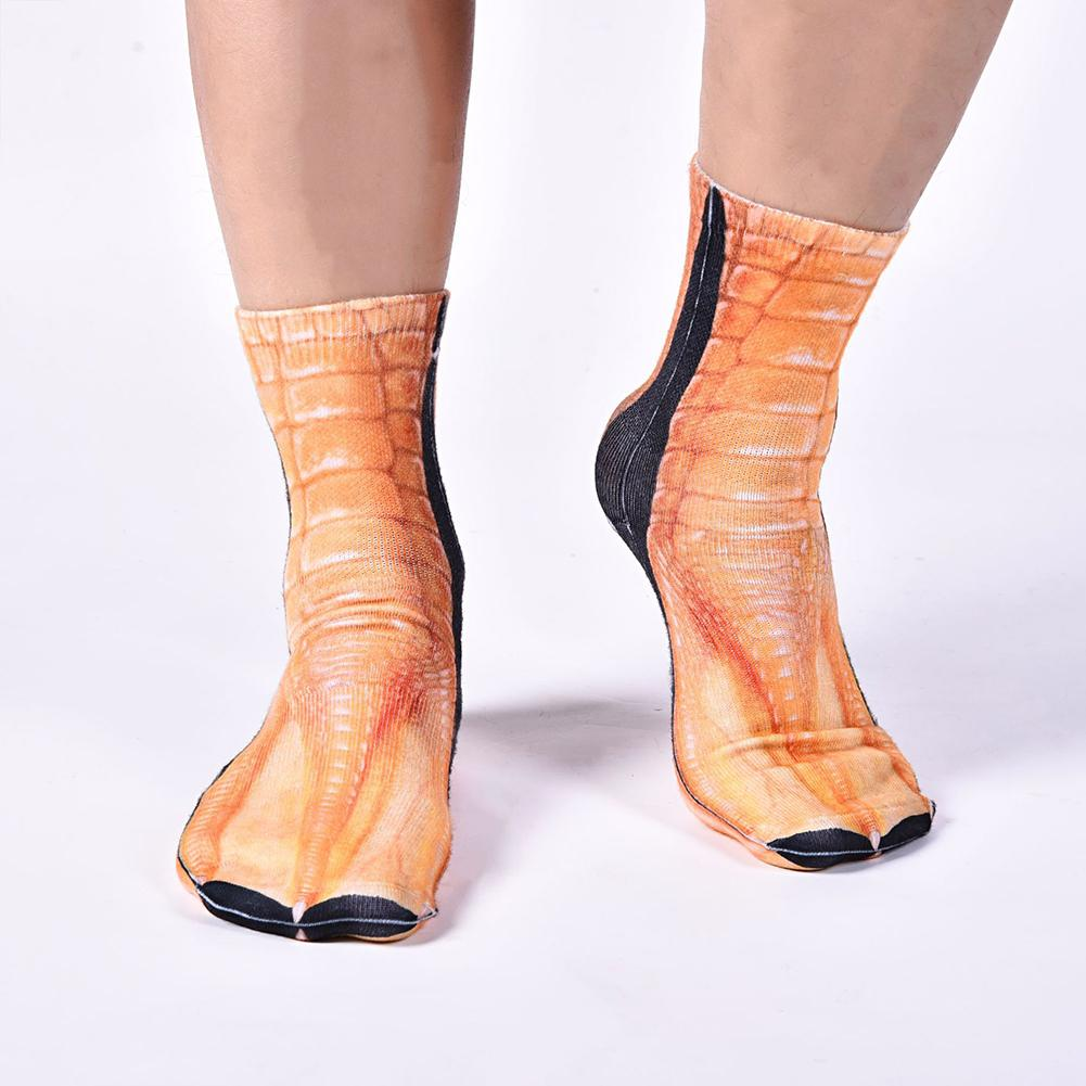 Wholesale 3D Animal Paw Hoof Print Realistic Unisex Breathable Stretchy Middle Tube Socks