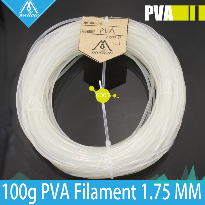 100g 3D Printer PVA Filament 1.75 MM 100g Spool for Makerbot, Reprap, UP, Afinia, Flash Forge and all FDM 3D Printers triangle toblerone 100g