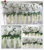 SPR High quality wedding stage arch table runner backdrop flowers wall decoration wholesale artificial flower table centerpiece