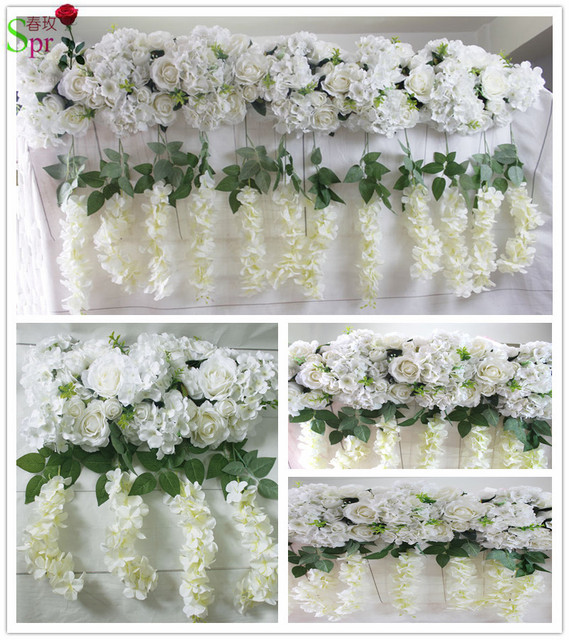 Aliexpress buy spr high quality wedding stage arch table spr high quality wedding stage arch table runner backdrop flowers wall decoration wholesale artificial flower table mightylinksfo