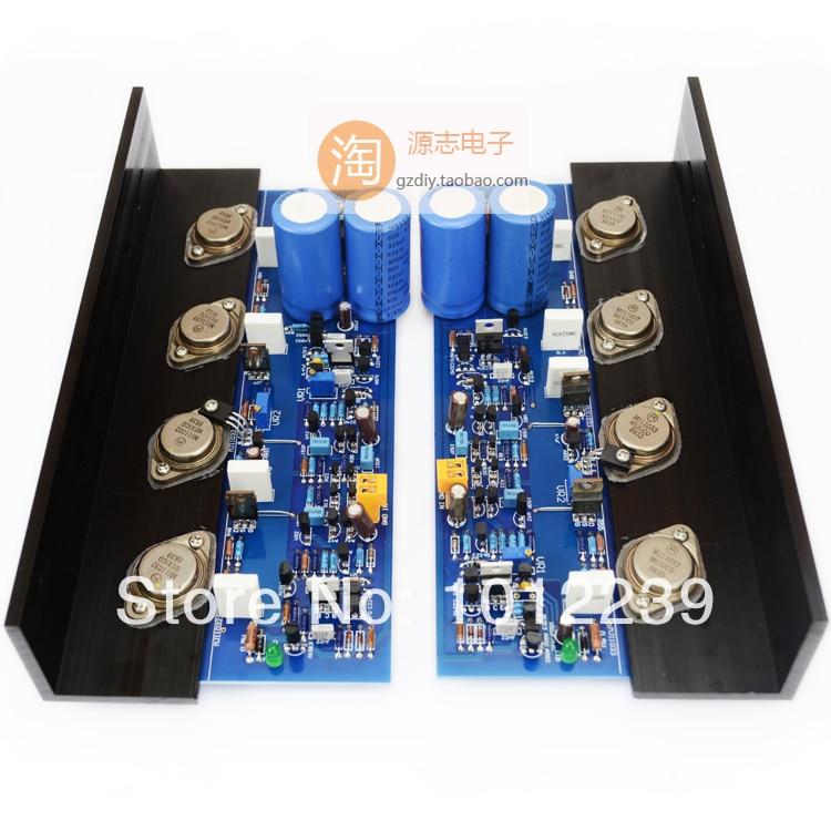 Assembled  MJ2001 200W power amplifier board / MJ11032 MJ11033 Class A amplifier board nflc victor digital multimeter 20a 1000v resistance capacitance inductance temp vc9805a