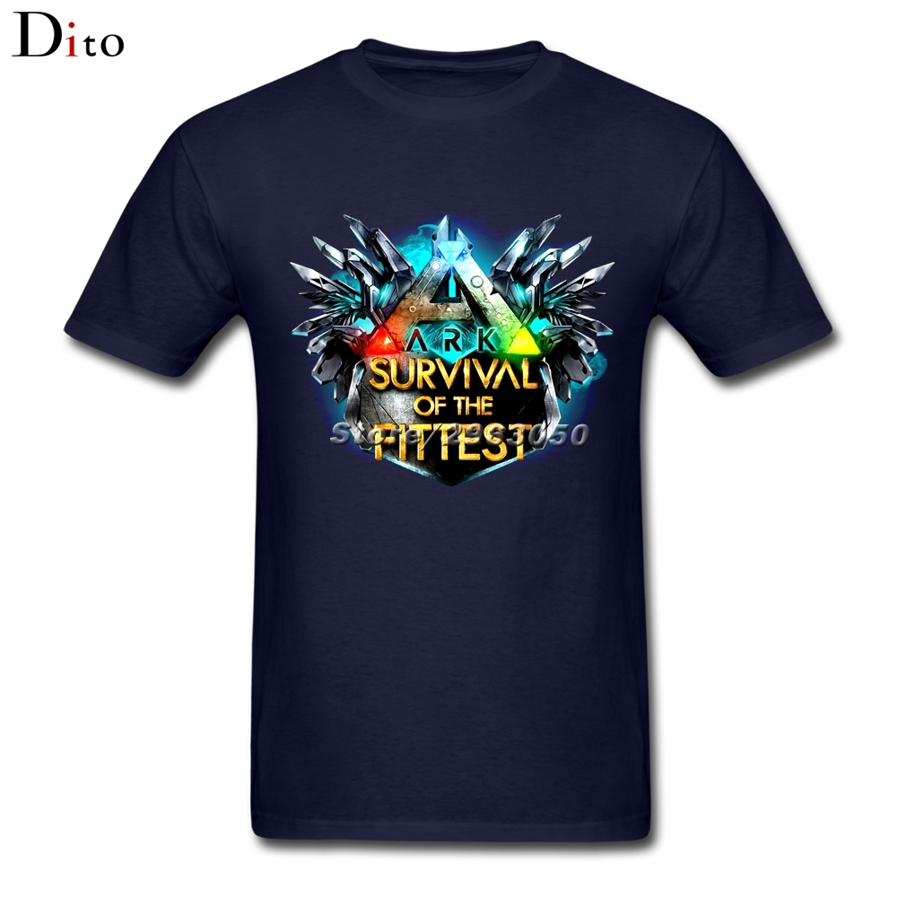 Ark Survival Evolved T Shirt For Men Personality Short Sleeve Fashion Custom 3XL Couple T Shirts