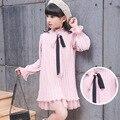 Meninas Vestido de Primavera 2017 Crianças Vestidos para Meninas adolescentes Roupas Vestido Xadrez Vestidos de Festa Da Princesa 4-12 T Crianças roupas