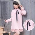 Vestido de las muchachas 2017 Niños Vestidos de Primavera para Las Niñas adolescentes Ropa Vestido de Fiesta de la Tela Escocesa Vestidos de Princesa 4-12 T Niños ropa