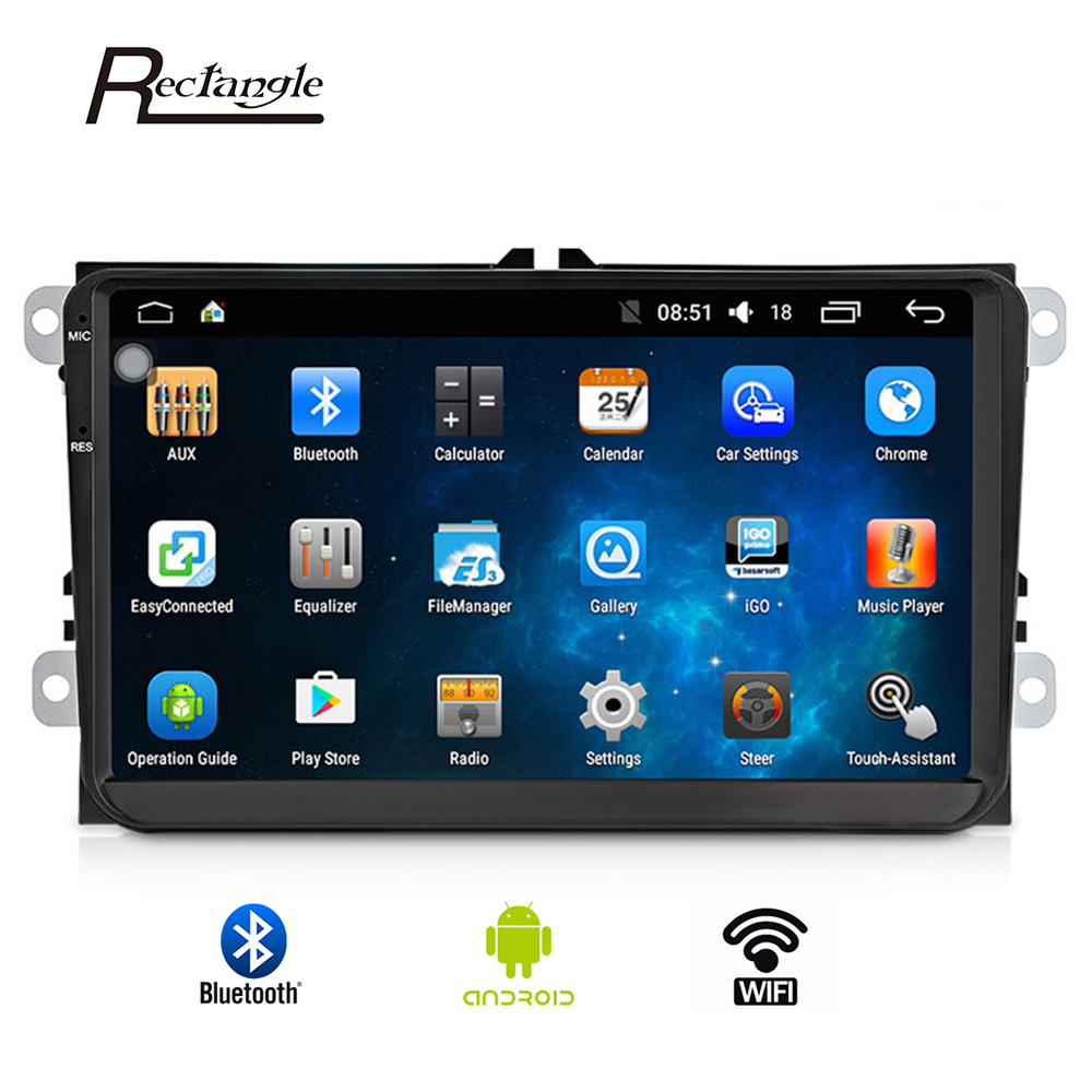 9001 Double 2 Din Car Radio GPS Android 9 Inch Wifi FM Mirror Link Touch Screen 800 X 480 Car Multimedia Player For VW